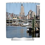Providence River And Point St Bridge Shower Curtain