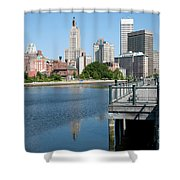 Providence Skyline And Riverfront Shower Curtain