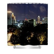 Providence Skyline At Dusk Shower Curtain