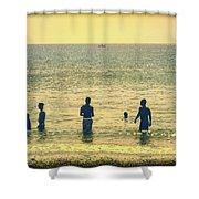 Provincetown Friends Shower Curtain