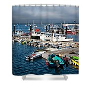 Provincetown Piers Shower Curtain