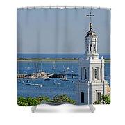 Provincetown Steeple Shower Curtain