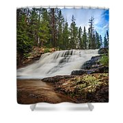 Provo River Falls 2 Shower Curtain