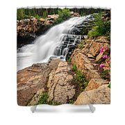 Provo River Falls 3 Shower Curtain