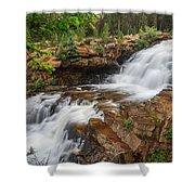 Provo River Falls Shower Curtain