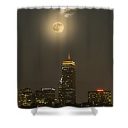 Prudential Tower With Supermoon 2013 Shower Curtain