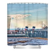 Ps Waverley At Penarth Pier Shower Curtain