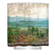 Psalm 116 13 Shower Curtain