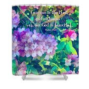 Psalm 116 5 Shower Curtain
