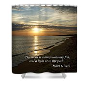 Psalm 119-105 Your Word Is A Lamp Shower Curtain