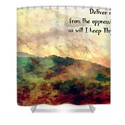 Psalm 119 134 Shower Curtain