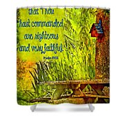 Psalm 119 138 Shower Curtain