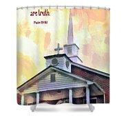 Psalm 119 151 Shower Curtain