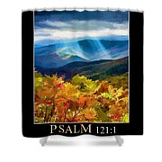 Psalm 121 Shower Curtain