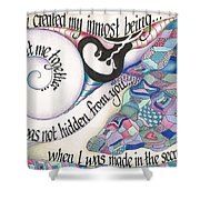 Psalm 139 Shower Curtain