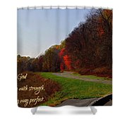 Psalm 18 32 Shower Curtain