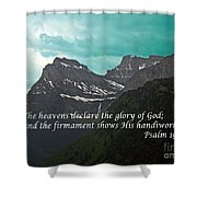 Psalm 19 1 On The Rocky Mountains Shower Curtain