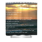 Psalm 23 Beach Sunset Shower Curtain