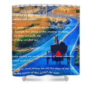 Psalm 23 Country Roads Shower Curtain