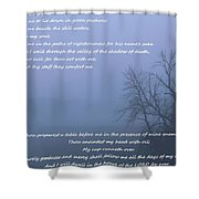 Psalm 23 Foggy Morning Shower Curtain