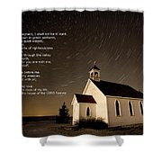 Psalm 23 Night Photography Star Trails Shower Curtain