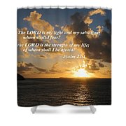 Psalm 27 1 The Lord Is My Light Shower Curtain