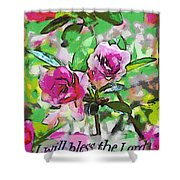 Psalm 34 1 Shower Curtain