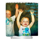 Psalm 63 4 Shower Curtain