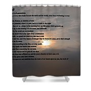 Psalm 90 Shower Curtain by Bill Cannon