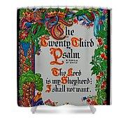 Psalms 23-1 Shower Curtain