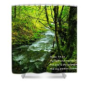 Psalms 73-26 Shower Curtain