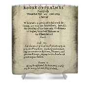 Psalms Hand Written Book Plate 1640 Shower Curtain
