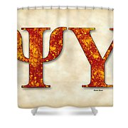 Psi Upsilon - Parchment Shower Curtain