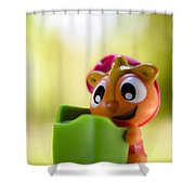 Pssst Down Here Shower Curtain