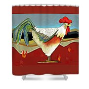 Psychadelic Chicken 2 Shower Curtain