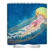 Psychadelic Jelly Shower Curtain by Jeff Lucas