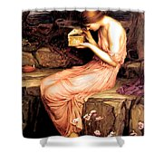 Psyche Opening The Golden Box 1903 Shower Curtain