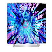 Psychedelic Barbie Shower Curtain