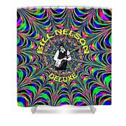 Psychedelic Bill Nelson Deluxe Shower Curtain
