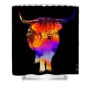 Psychedelic Bovine Shower Curtain