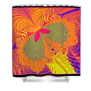 Psychedelic Butterfly Explosion Fractal 61 Shower Curtain