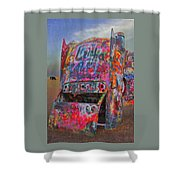 Psychedelic Cadillac Shower Curtain