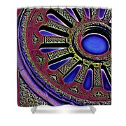 Psychedelic Church Window Shower Curtain