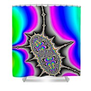 Psychedelic Fractal Art With Bold Wild And Crazy Colors Shower Curtain