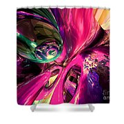Psychedelic Fun House Abstract Shower Curtain