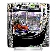 Psychedelic Gondola Venice Shower Curtain