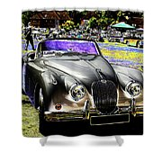 Psychedelic Jaguar Xk120 Classic Car 1 Shower Curtain