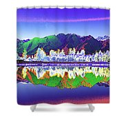 Psychedelic Lake Matheson New Zealand Shower Curtain