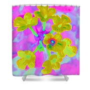 Psychedelic Lantana Shower Curtain