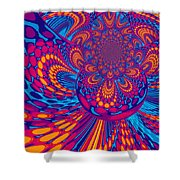 Psychedelic Mind Trip Shower Curtain
